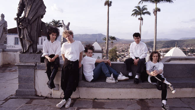 The Cure in Brazil in 1987: Simon Gallup, Boris Williams, Robert Smith, Lol Tolhurst and Porl Thompson