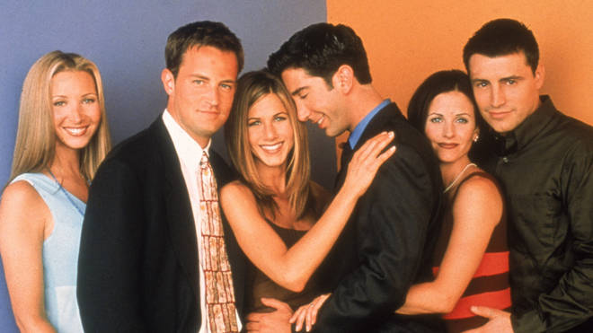 The cast of Friends in 1996