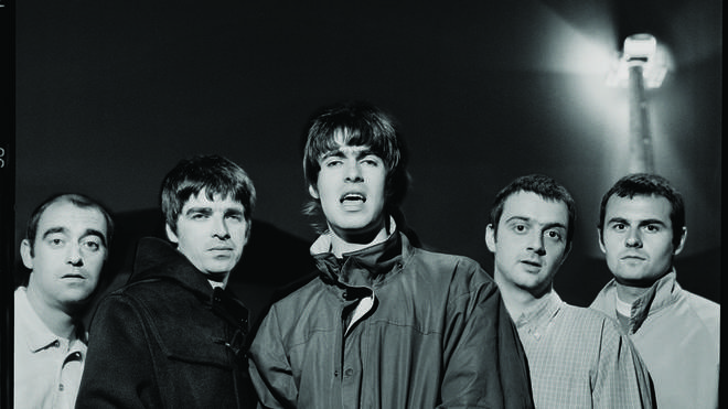Oasis at Glastonbury in 1995