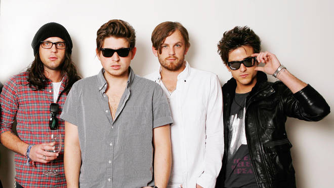 Kings Of Leon in September 2008: Nathan Followill, Matthew Followill, Caleb Followill and Jared Followill