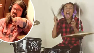 Foo Fighters' Dave Grohl finally completes drum-off with Nandi Bushell