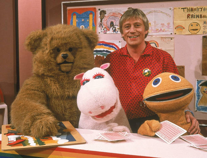 Geoffrey Hayes and the Rainbow team