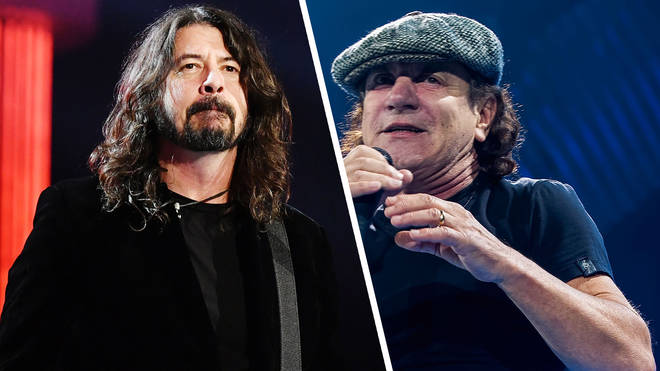 Foo Fighters' Dave Grohl and AC/DC's Brian Johnson