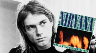 Kurt Cobain recording with Nirvana in November 1991