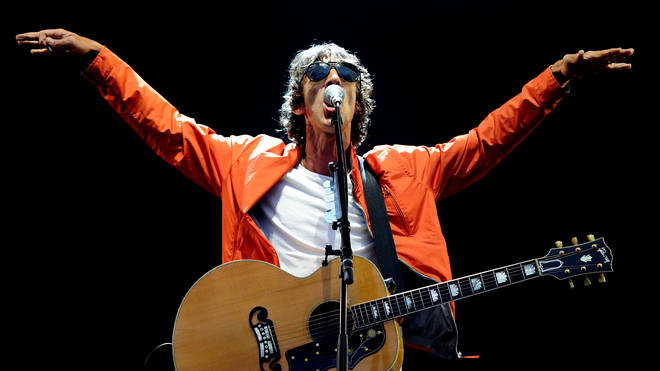 Richard Ashcroft performs  Gallagher at Emirates Old Trafford on August 18, 2018