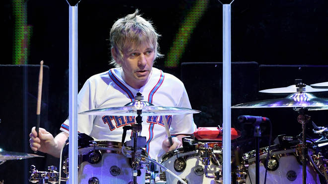 Zak Starkey drumming with The Who in Las Vegas, July 2017