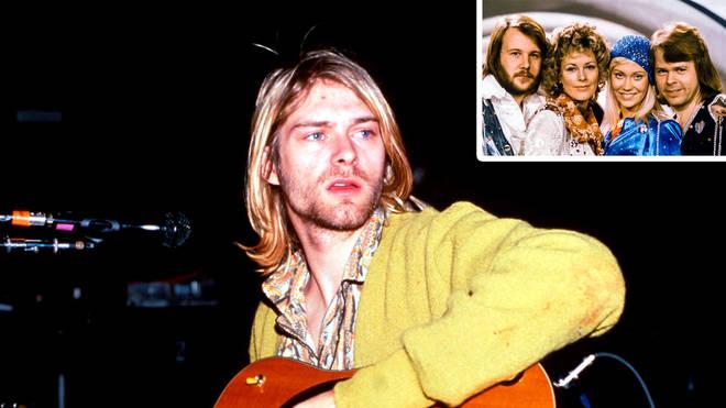 Kurt Cobain and Abba inset