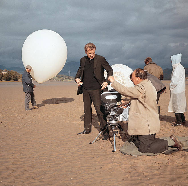 Patrick McGoohan setting up a shot for The Prisoner in 1967