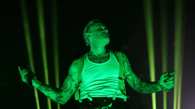 The Prodigy's Keith Flint plays at O2 Academy Brixton in 2017