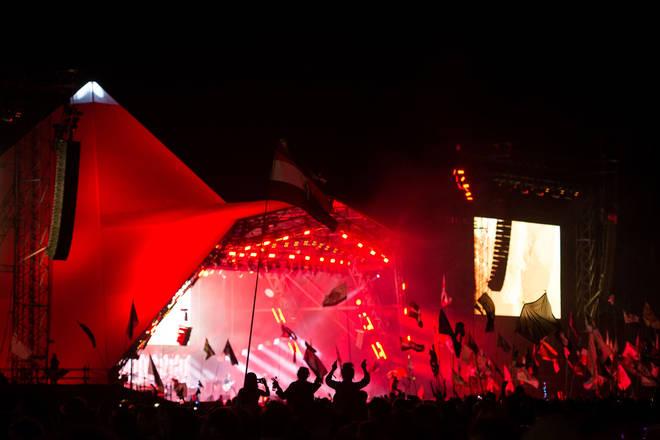 Foo Fighters perform at Glastonbury Festival 2017