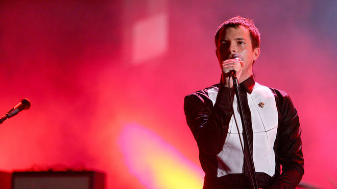 Brandon Flowers of The Killers performs during 2006 MTV Video Music Awards