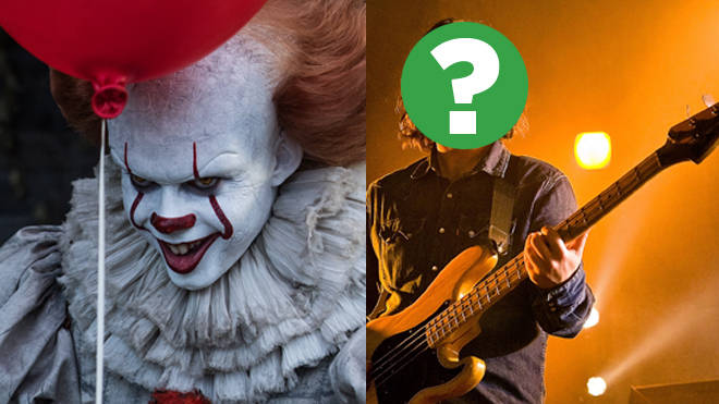 Bill Skarsgård as Pennywise in IT and a mystery indie bassist