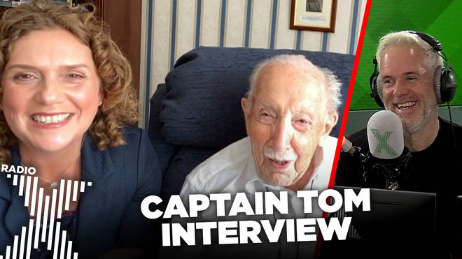 Captain Tom Moore talks to The Chris Moyles Show