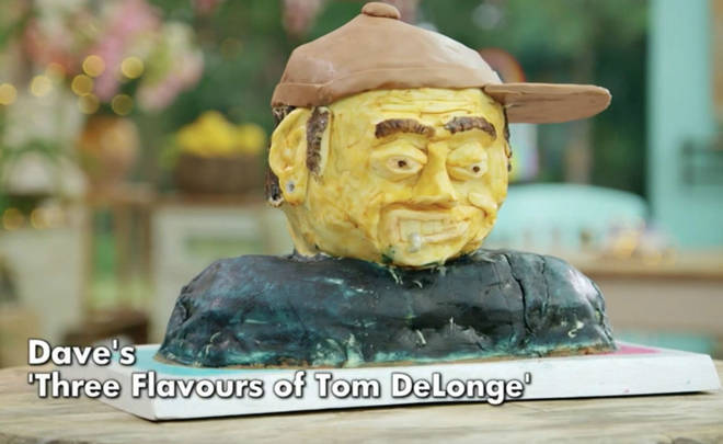 Tom DeLonge reacts to Great British Bake Off contestant's cake of him