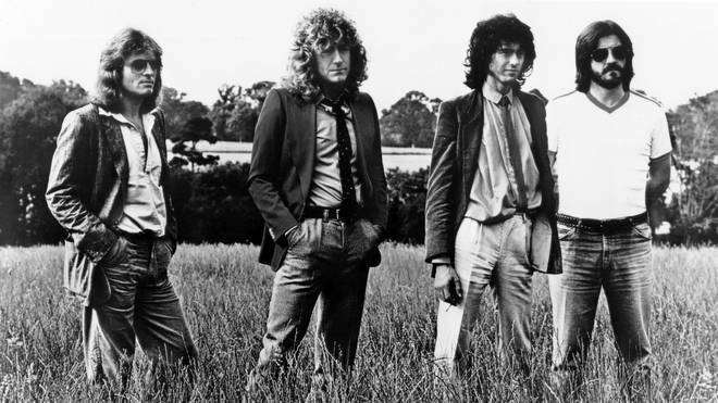 Led Zeppelin in 1979: John Paul Jones, Robert Plant, Jimmy Page, John Bonham.