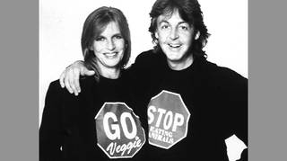 Paul and Linda McCartney launch National Vegetarian Day in 1991