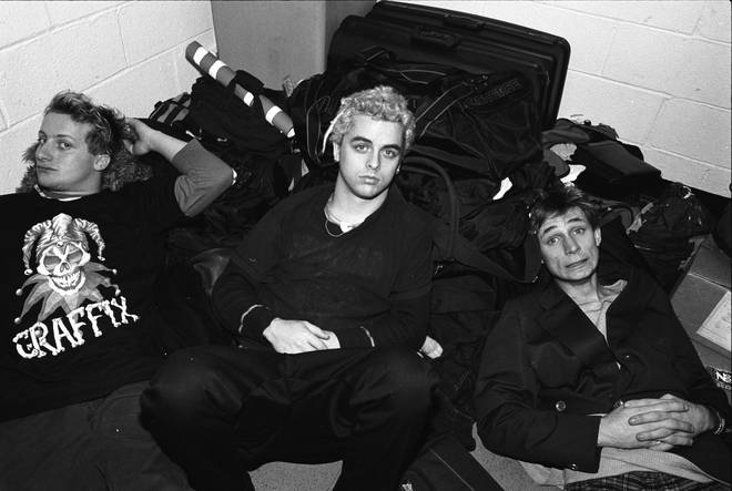 Green Day backstage at Madison Square Garden in 1994