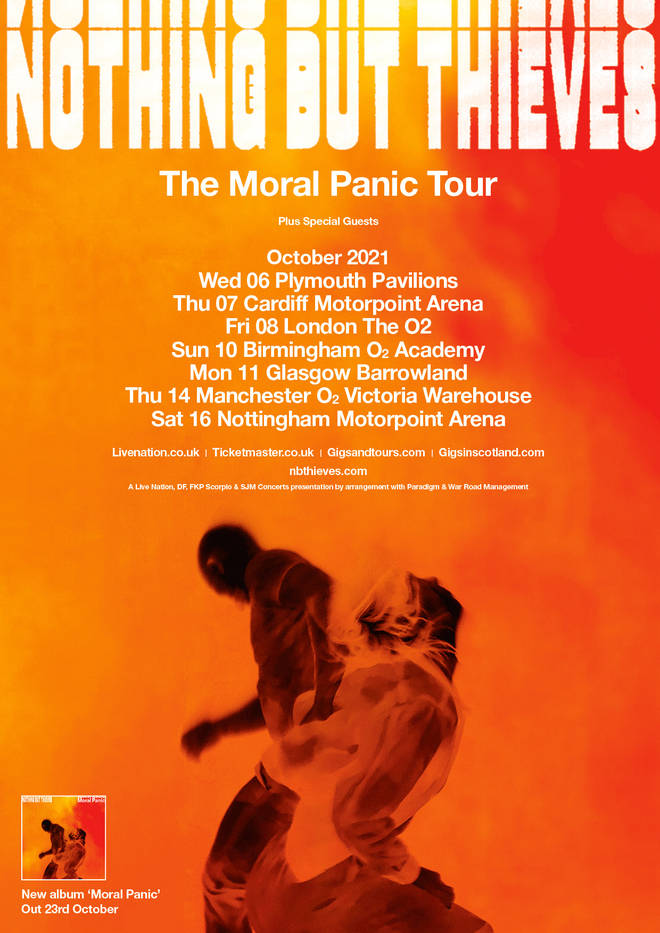 Nothing But Thieves The Moral Panic Tour dates 2021