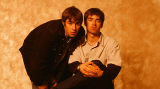 Oasis' Liam Gallagher and Noel Gallagher In Japan in 1994