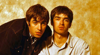 Liam and Noel Gallagher of Oasis in Tokyo, September 1994