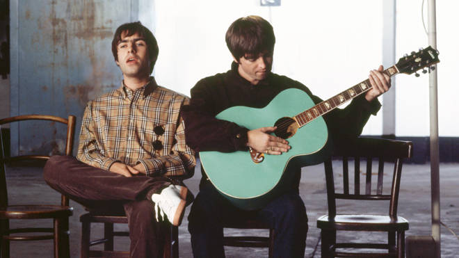 Liam and Noel Gallagher in the Wonderwall video