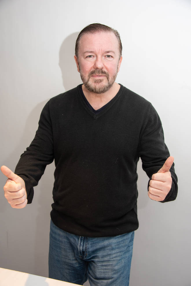 Ricky Gervais at the After Life Press Conference