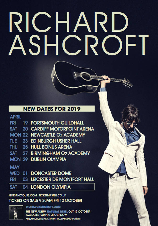 Richard Ashcroft UK & Ireland tour 2019 dates line-up