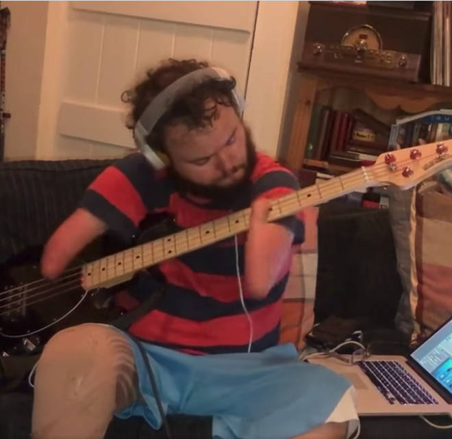 Bass player smashes Red Hot Chili Peppers' Aeroplane