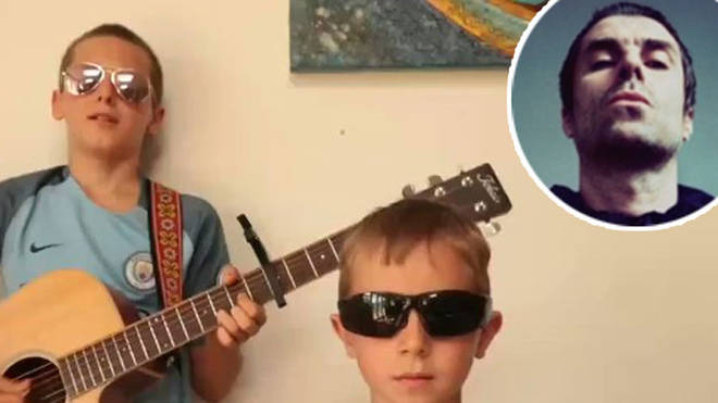 13 year old Alex and his brother covered Liam Gallagher Once single