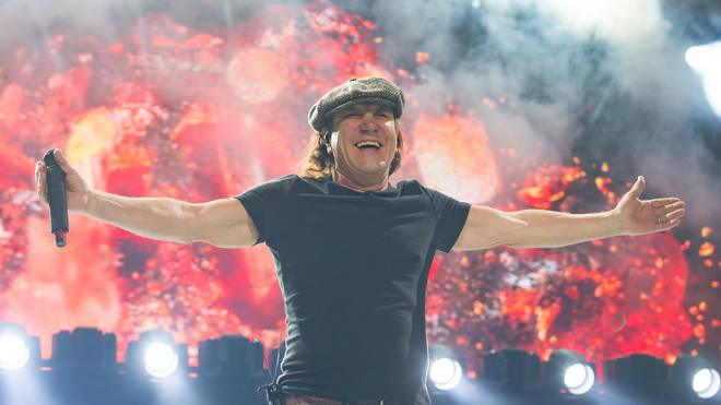 Brian Johnson performs with AC/DC In concert in 2016