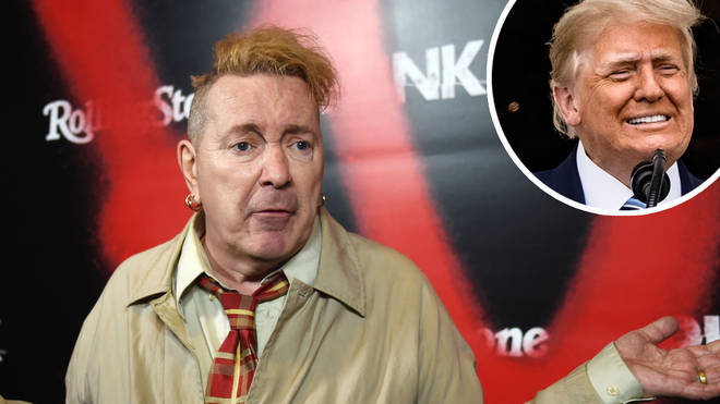 The Sex Pistols icon John Lydon with Donald Trump inset
