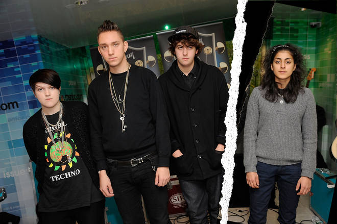 The xx in October 2009:  Romy Madley Croft, Oliver Sim, Jamie Smith and Baria Qureshi