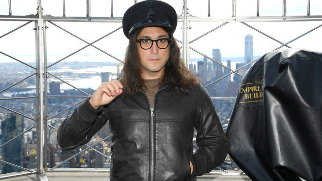 Sean Ono Lennon At Empire State Building Lighting Ceremony In Honor Of Father John Lennon's 80th Birthday on October 08, 2020 in New York City.