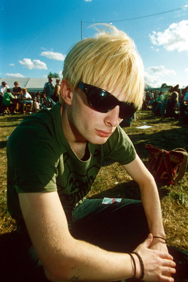 Thom Yorke at Reading Festival in 1994