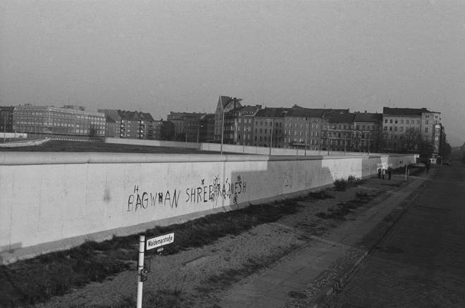 The Berlin Wall in January 1978