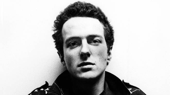 Joe Strummer of The Clash, pictured in November 1976