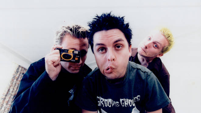 Green Day in 1997: Tre Cool, Billie Joe Armstrong and Mike Dirnt