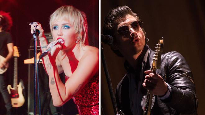 Miley Cyrus and Arctic Monkeys' Alex Turner