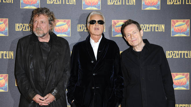 Led Zeppelin's Robert Plant, Jimmy Page and John Paul Jones in 2012