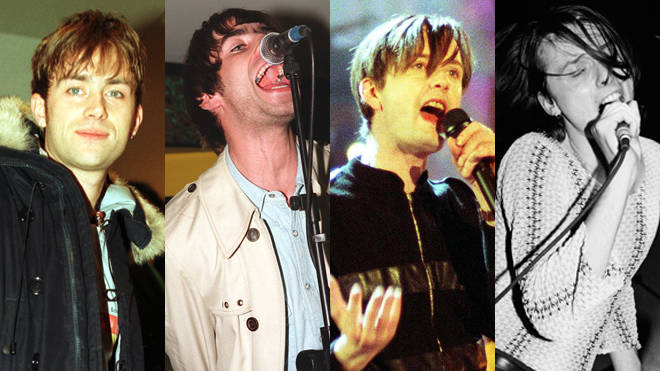 Damon Albarn, Liam Gallagher, Jarvis Cocker and Brett Anderson