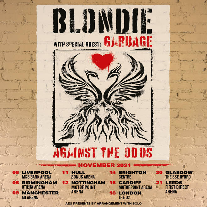 Blondie announce Against The Odds Tour with Garbage
