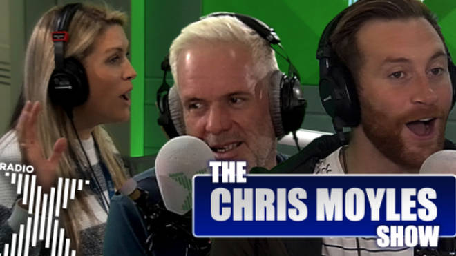 Chris Moyles plays referee between Pippa and Toby