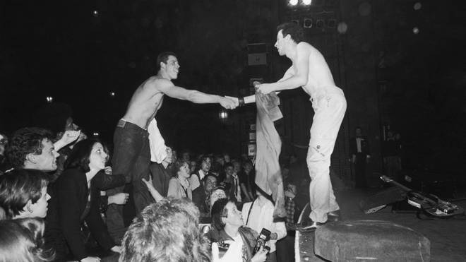 The Clash live in 1977