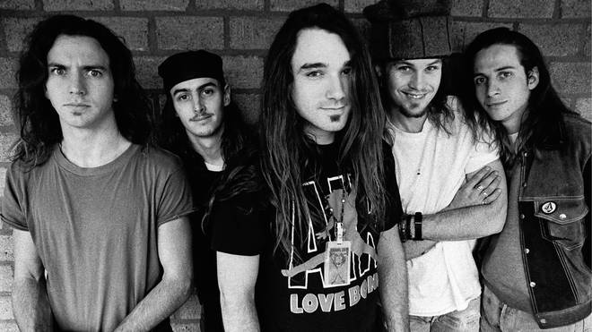 Pearl Jam in 1992, shortly after the release of their debut album Ten