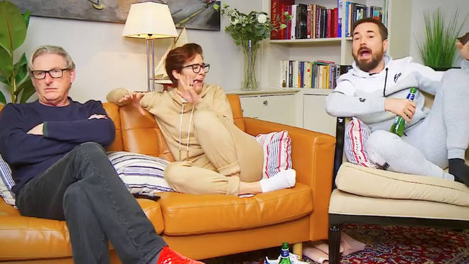 Adrian Dunbar, Vicky McClure and Martin Compston from Line of Duty appear on Gogglebox