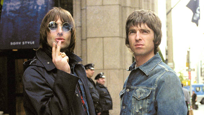Liam and Noel Gallagher in New York, May 2000