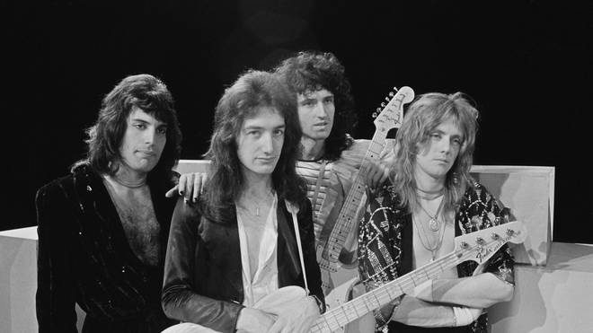 Queen in November 1974: Freddie Mercury, John Deacon, Brian May and Roger Taylor