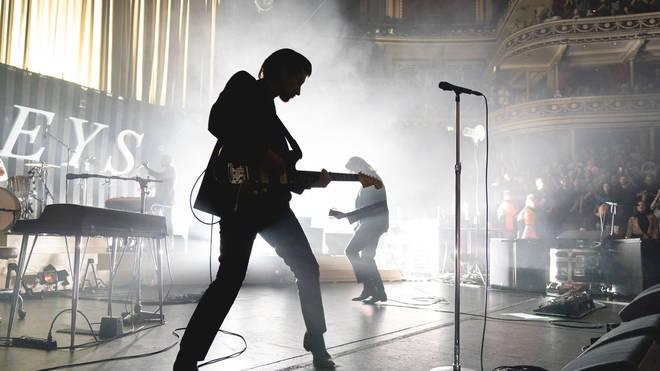Alex Turner on stage at the Royal Albert Hall, 2018