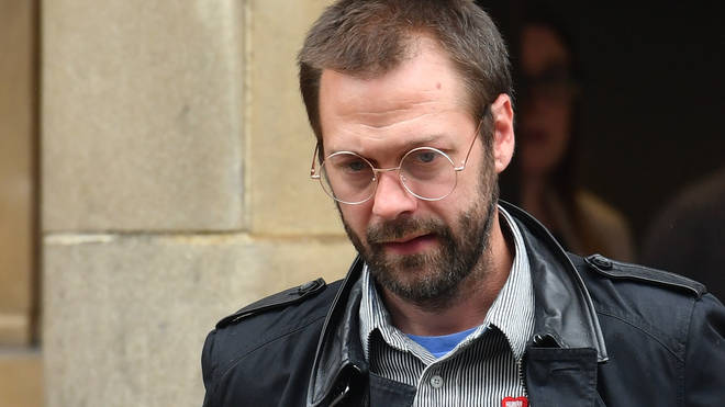 x-Kasabian singer Tom Meighan leaving Leicester Magistrates' Court on 7 July 2020