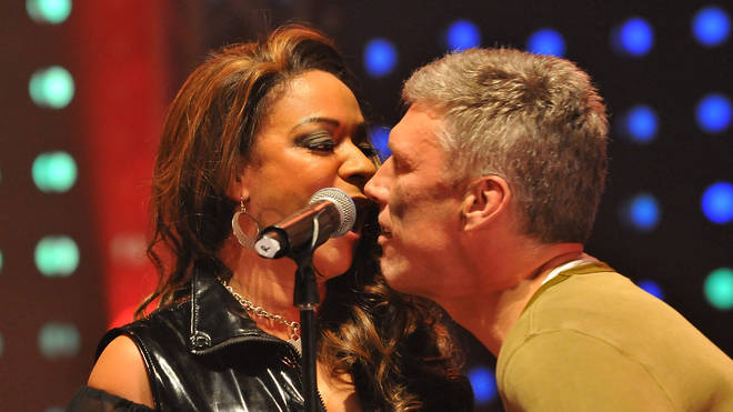 Rowetta and Bez perform with Happy Mondays in 2012